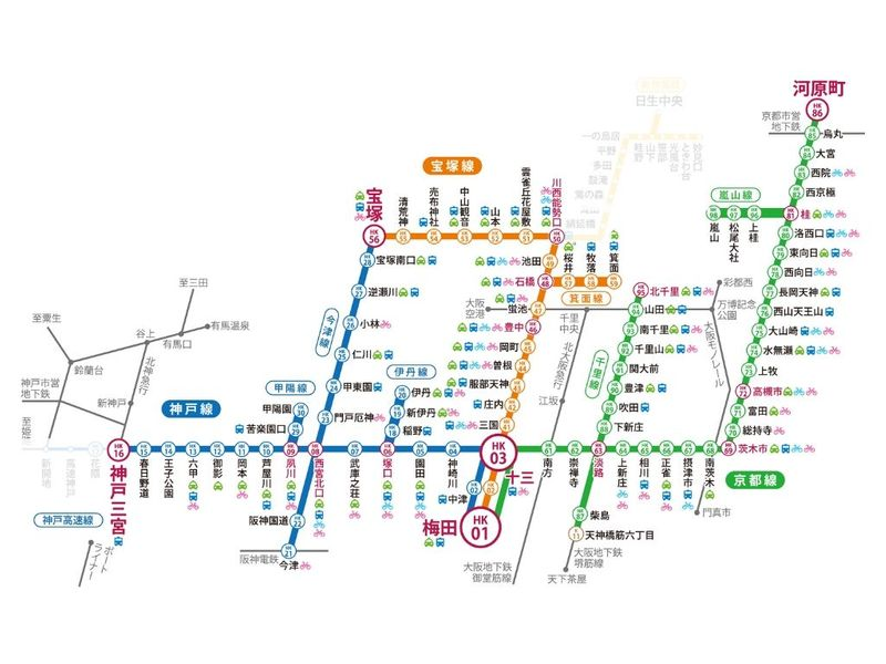 阪急電鐵一日券可使用範圍