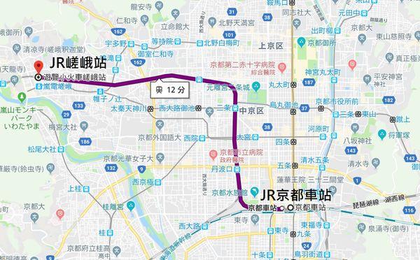 JR京都車站嵐山交通