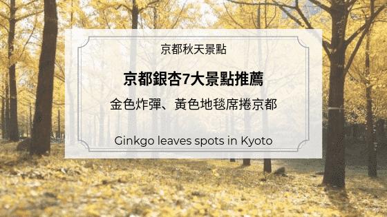 2020年版|京都銀杏7大景點推薦,金色炸彈、黃色地毯席捲京都