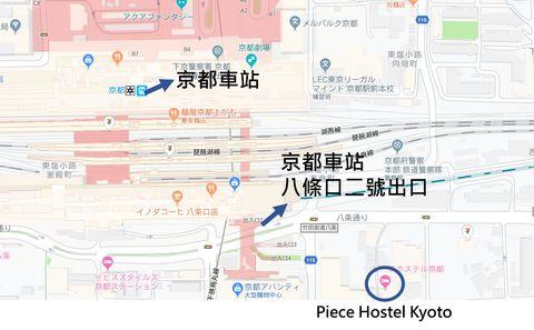 Piece Hostel 位置
