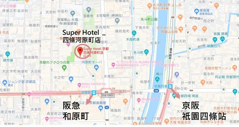 SUPER HOTEL 位置