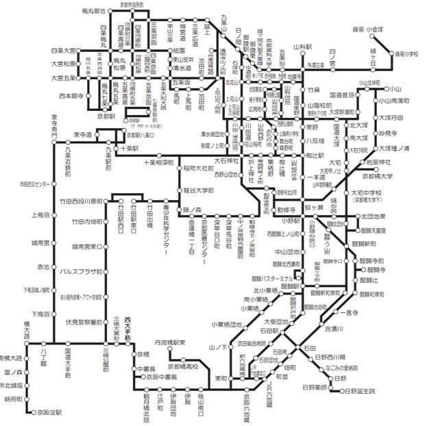 京阪巴士地圖