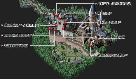 環球影城哈利波特魔法世界商店位置圖