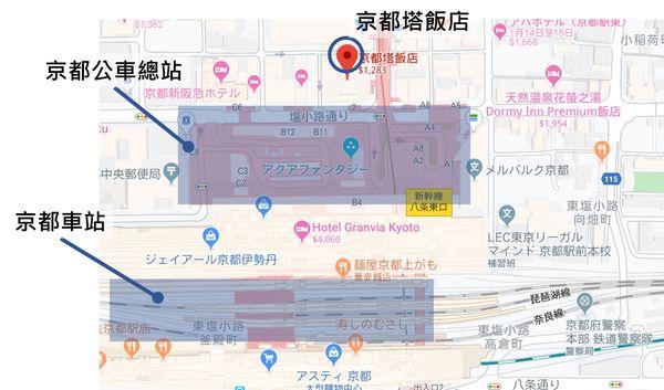 京都塔飯店交通