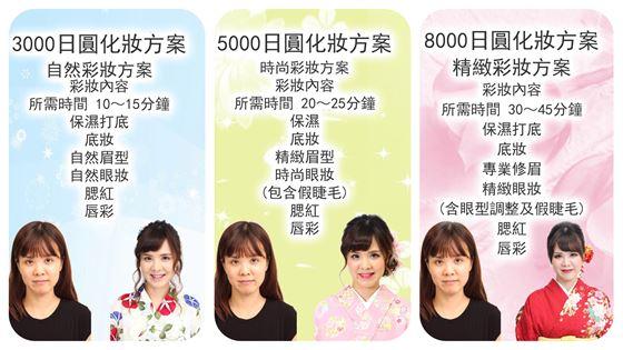櫻花和服化妝方案