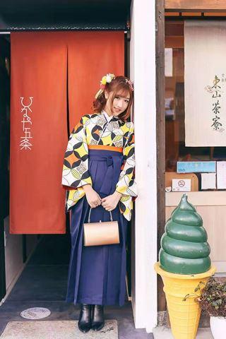 櫻花和服女士袴