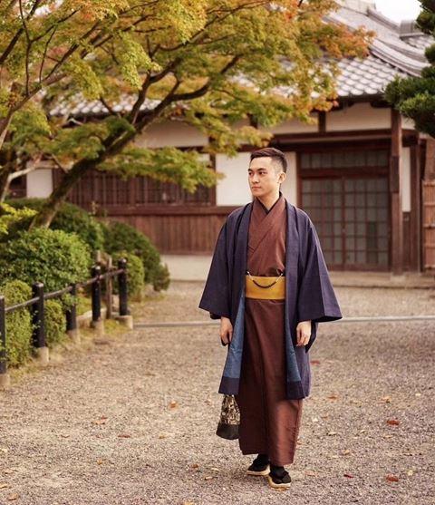 櫻花和服男士日常和服