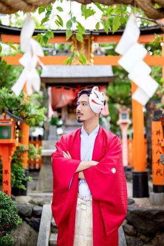 櫻花和服男士禮裝袴