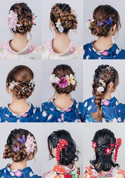 櫻花和服髮型