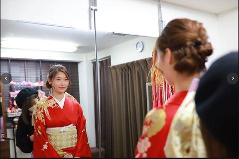 櫻花和服穿和服