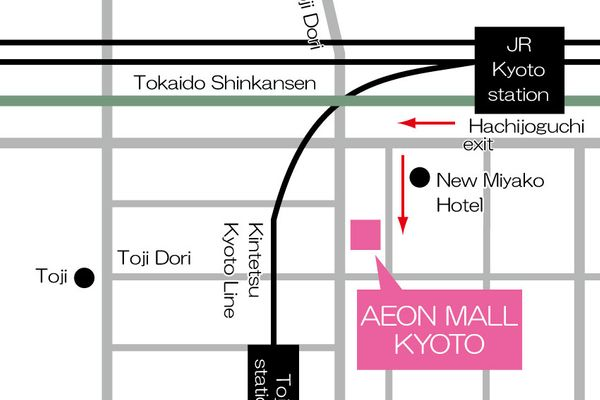 AEON Mall kyoto 交通