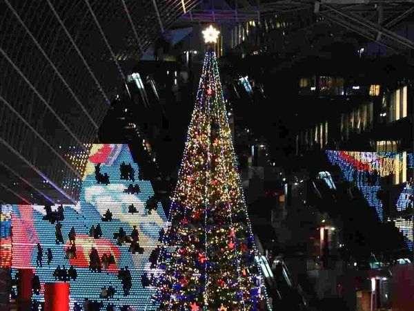 京都車站大階梯聖誕點燈