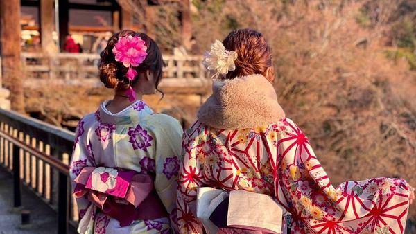 清水寺穿和服