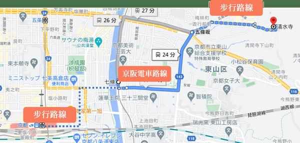 京都車站到清水寺交通
