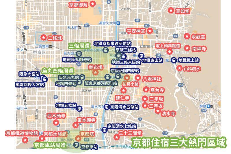 京都住宿三大熱門區域